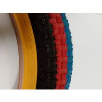 2 innertubes + 2 tires (black/red/blue-gumwall) 20x1.75