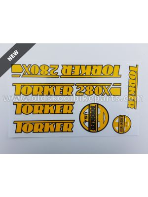 Torker 280X Frame decal yellow