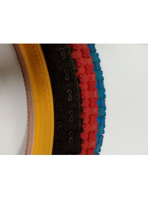 2 innertubes + 2 tires (black/red/blue-gumwall) 20x1.75