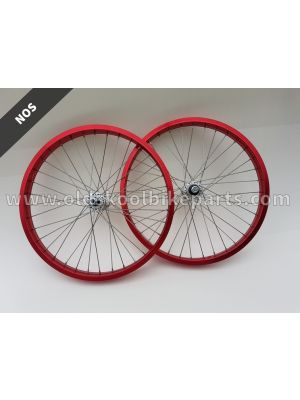 Wheelset old school 20x1.75/2.125 red/silver