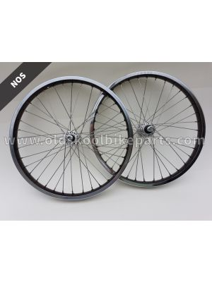 Wheelset old school black/chrome
