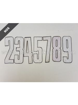 Pin-on number white