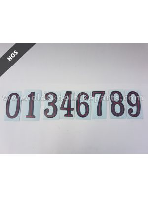 Sticker number black/red