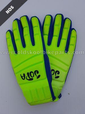 Gloves Jopa green-blue